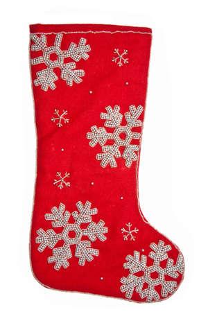 christmas sock: Christmas sock  red