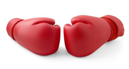 guantes: Guantes de boxeo rojos aislados