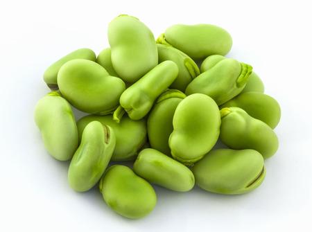 fava bean: Broad bean green seeds lat. Visia faba. Fava bean field bean bell bean tic bean Stock Photo