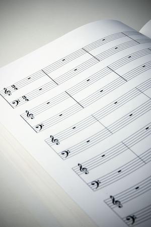 music score: Silence empty music score Stock Photo