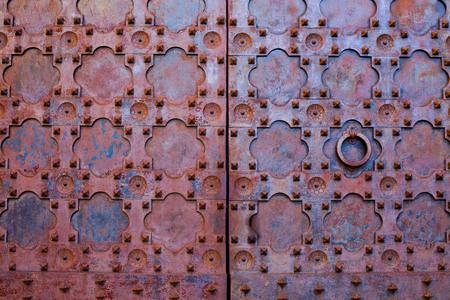 metal structure: Structure old metal door