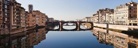 italy landscape: Florence panorama with bridge Stock Photo
