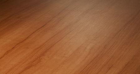 in perspective: Beech wood desktop surface perspective blurred in the distance Stock Photo