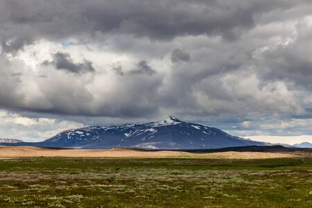hekla: Stone and ash wasteland - volcanic landscape Stock Photo