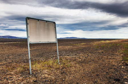 wasteland: Stone and ash wasteland - volcanic landscape Stock Photo