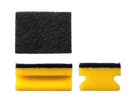 bright housekeeping: Kitchen cleaning sponge isolated set