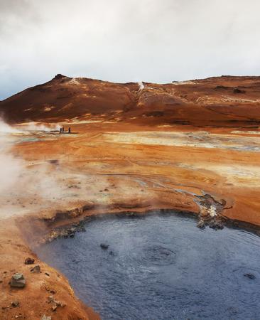 pits: Volcanic landscape Namafjall, Iceland Stinky pits