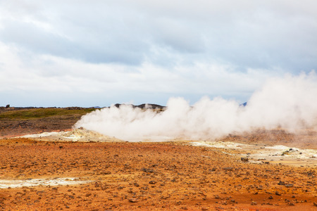 volcanic: Volcanic landscape Namafjall, Iceland Stock Photo
