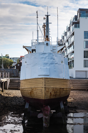 overhaul: Ship in dry dock during the overhaul