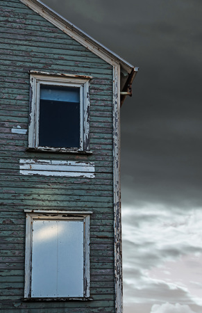 reykjavik: Vintage windows in Reykjavik Iceland