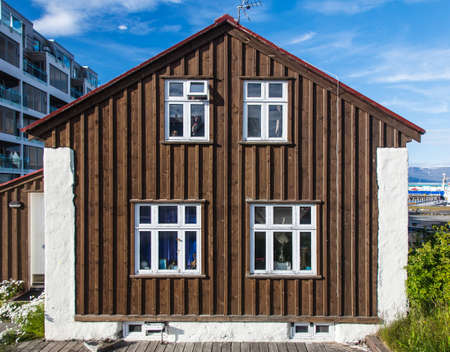 Reykjavik: Typical Icelandic wooden house in Reykjavik downtown
