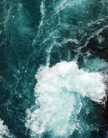 rushing water: abstract background - water flows in the river Stock Photo
