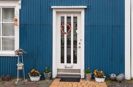 icelandic: Typical Icelandic house entrance