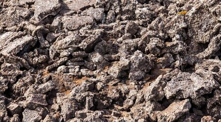 Crumbled volcanic rock Stock Photo
