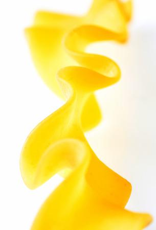 One durum wheat pasta macro - selective focus