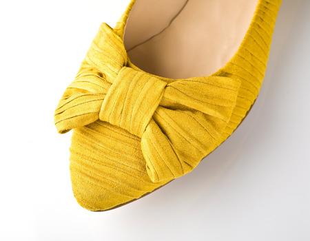 Female shoe closeup isolated on white Stock Photo