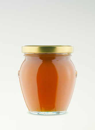 Glass jar isolated studio shot