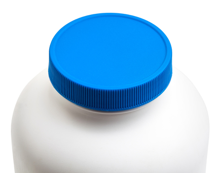 Secure medicine cap package isolated with clipping path Stock Photo