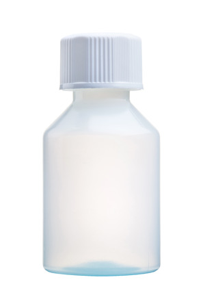 Blank medicine package bottle isolated with clipping path
