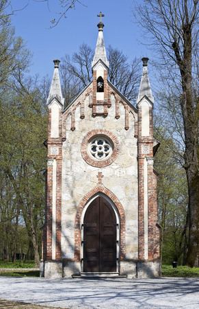 Catholic chapel in Novi Dvori forest in Zapresic, Croatia Stock Photo - 55118186