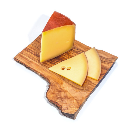 Cheese isolated and served