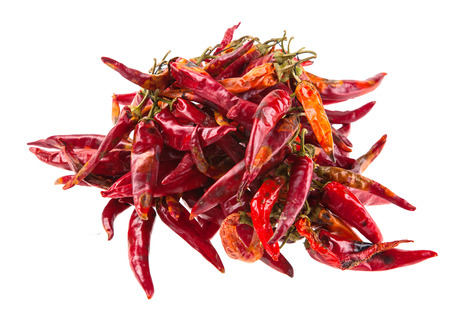 String with dry hot peppers Stock Photo - 55145217