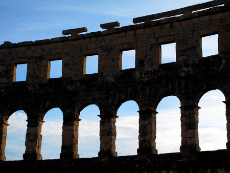 Roman Amphitheater in Pula Croatia Stock Photo - 55118299