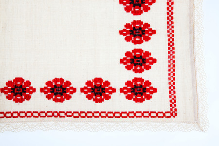 Rustic vintage table cloth Stock Photo - 64001722