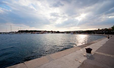 Port in Krk, island Krk Croatia, before the storm