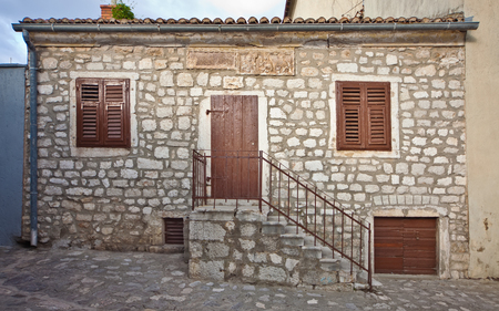 Old mediterranean stone house, Croatia Editorial