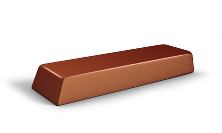 Chocolate or ice cream bar 3D illustration