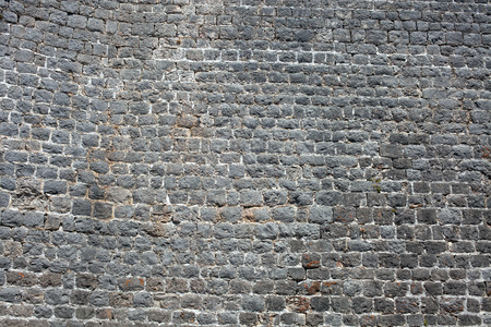 Old medieval stone fort wall texture Stock Photo