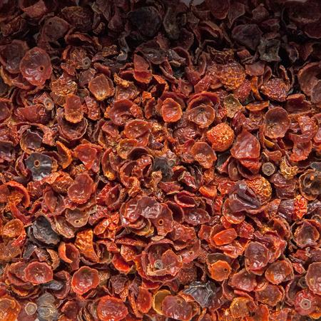 Rosehip tea in the box Stock Photo