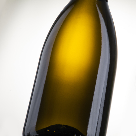 close-up blank champagne bottle label place Stock Photo