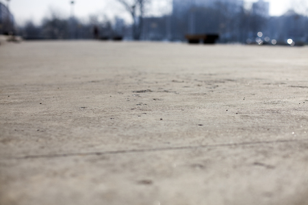 Shallow depth of Field - low angle concrete floor Stock Photo - 120142292