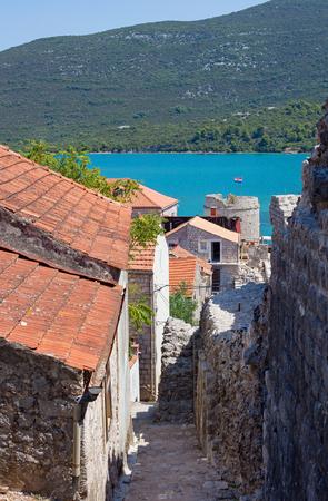 Ston, Croatia small coastal town at Peljesac penisula