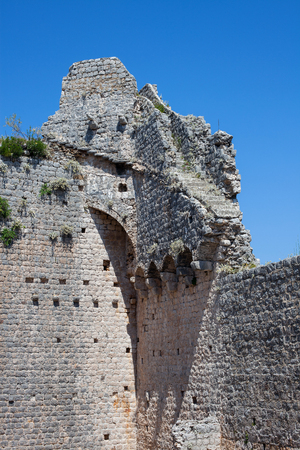 Old medieval fort in Ston, Croatia. Wall was originaly 7km long. Stock Photo - 120142227