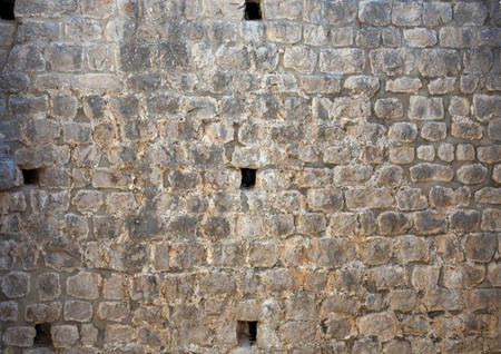 Old medieval stone fort wall texture Stock Photo - 120142258