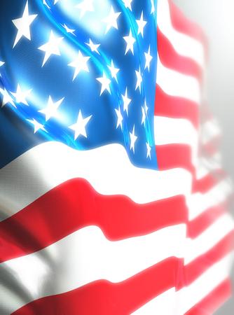 USA flag, American flag 3D