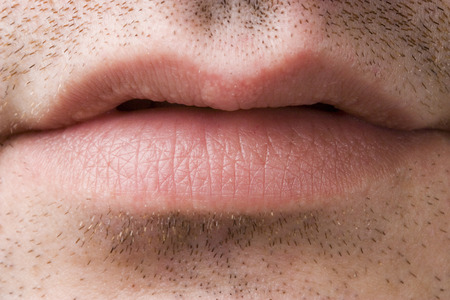 CLose-up of a mans mouth