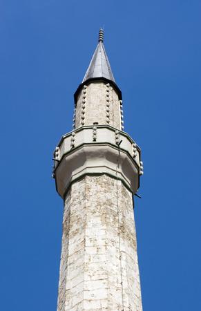 Detail on top of the Mosque minaret in Sarajevo