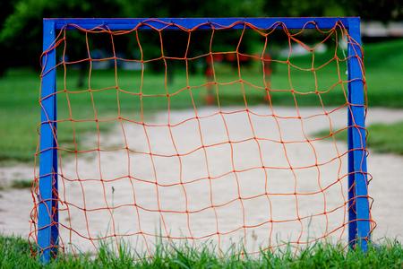 Football gate, goalpost in a park - playground