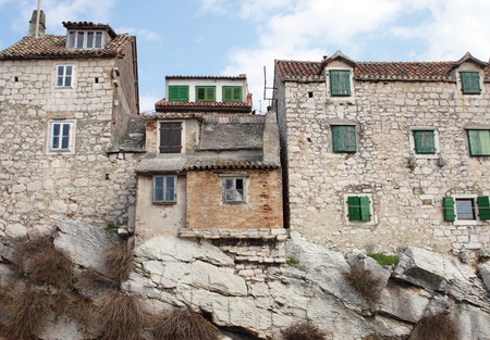 Old traditional mediterranean stone houses Stock Photo - 121562847