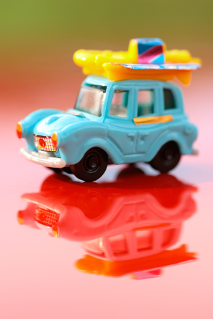 Plastic hildren's toy car - macro shot, shallow depth of field Stock Photo - 121562746