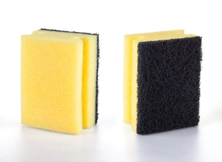 Kitchen sponges studio shot - isolated on white Stock Photo - 121562721