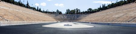 Panathenaic stadium or kallimarmaro in Athens - panorama