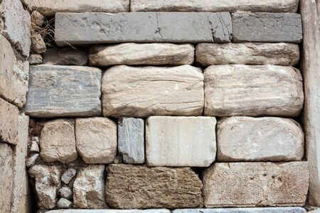 Antique stone temple wall texture Stock Photo