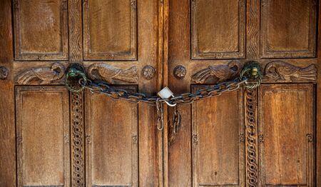 Old vintage door building detail Stock Photo