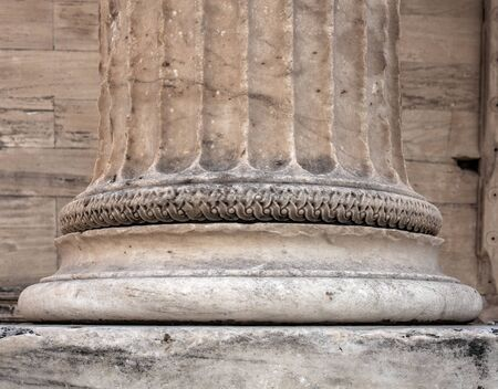 Antique greek temple column detail Stock Photo - 146873803