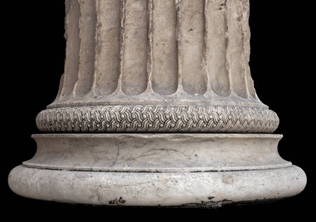 Antique greek temple column isolated